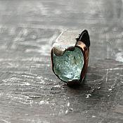 Украшения ручной работы. Ярмарка Мастеров - ручная работа LA PLAYA кольцо р-р 16.2  (аквамарин, серебро, медь)RES. Handmade.