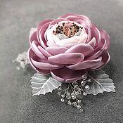 Украшения handmade. Livemaster - original item Morning Ice Roses. Brooch - handmade flower. Handmade.