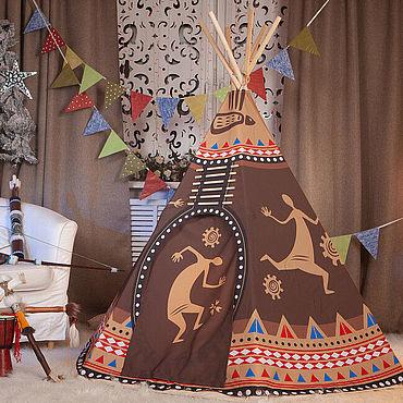 Куклы и игрушки ручной работы. Ярмарка Мастеров - ручная работа Игрушки: Детская типи. Вигвам. Палатка. Домик. Handmade.