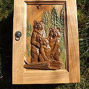"""Для дома и интерьера ручной работы. Ярмарка Мастеров - ручная работа Ключница """"Три Медведя"""". Handmade."""