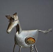 Для дома и интерьера ручной работы. Ярмарка Мастеров - ручная работа Троянский конь в серебре с янтарем участник выставок единственный. Handmade.