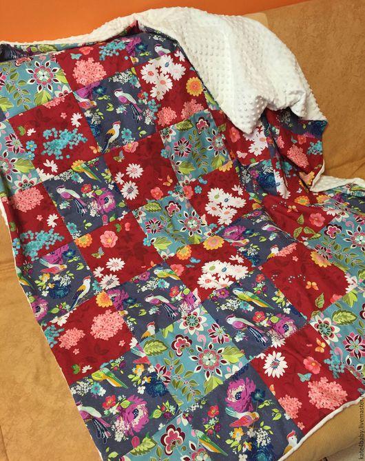 Текстиль, ковры ручной работы. Ярмарка Мастеров - ручная работа. Купить Лоскутный плед. Handmade. Комбинированный, серый, текстиль для интерьера
