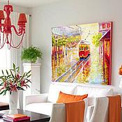 """Картины и панно ручной работы. Ярмарка Мастеров - ручная работа Картина """"Апрельские дожди"""". Handmade."""