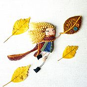 Украшения handmade. Livemaster - original item brooch girl