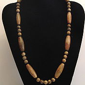 Украшения handmade. Livemaster - original item Beads from natural stones (Jasper, tree agate)