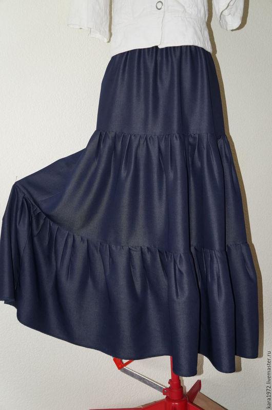 Юбки ручной работы. Ярмарка Мастеров - ручная работа. Купить Юбка синева. Handmade. Тёмно-синий, юбка, юбка длинная