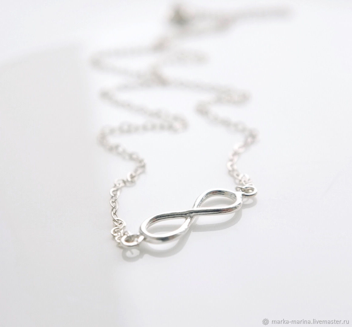 Chain from silver on a neck 'Infinity', Pendant, Samara,  Фото №1