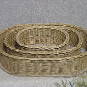 Для дома и интерьера handmade. Livemaster - original item A set of oval boxes made of willow twigs. Handmade.