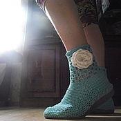 Обувь ручной работы. Ярмарка Мастеров - ручная работа Ботильоны. Handmade.