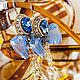 Blue earrings with bows aquamarine. bead earrings. Earrings. LADY-LIZA jewelry shop. My Livemaster. Фото №4