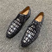 Обувь ручной работы handmade. Livemaster - original item Men`s shoes made of genuine crocodile leather, with laces.. Handmade.