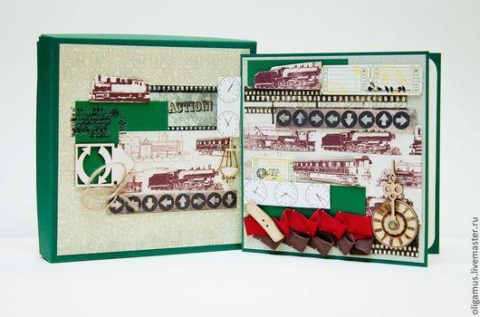 Открытки для мужчин, ручной работы. Ярмарка Мастеров - ручная работа. Купить Мужская открытка в коробке 24. Handmade. открытка для мужчины