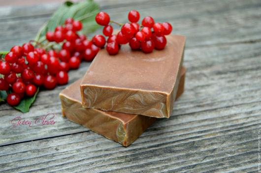 фотография: шампуневое натуральное мыло с калиной и шёлком photo: campaniae natural soap with Kalina and silk