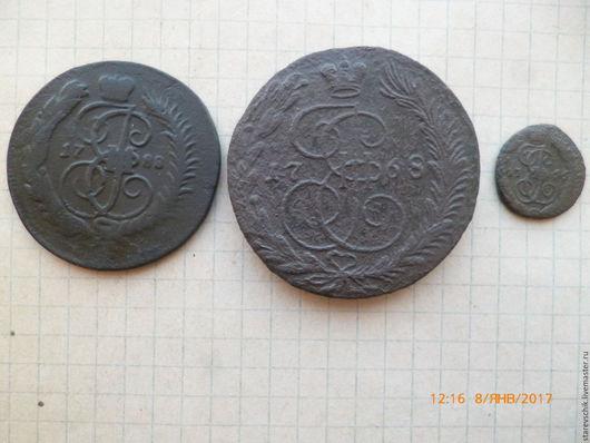 Винтажные сувениры. Ярмарка Мастеров - ручная работа. Купить Старая монета. Handmade. Темно-серый, коллекция, царица