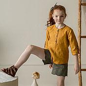 Одежда детская handmade. Livemaster - original item Linen shirt for girls. Handmade.
