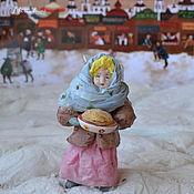 Подарки к праздникам ручной работы. Ярмарка Мастеров - ручная работа Ватная елочная игрушка ОКСАНА торговка блинами. Handmade.