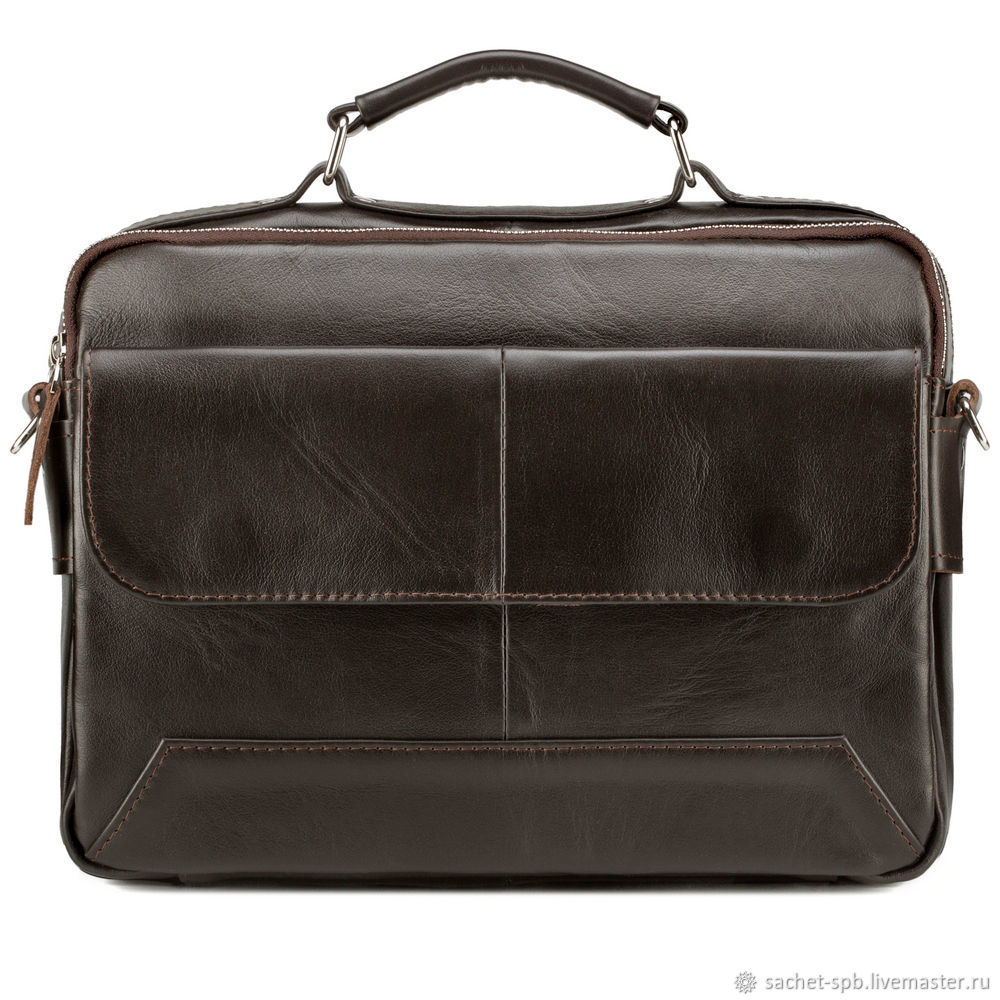 Leather bag 'Leon' (brown), Men\'s bag, St. Petersburg,  Фото №1