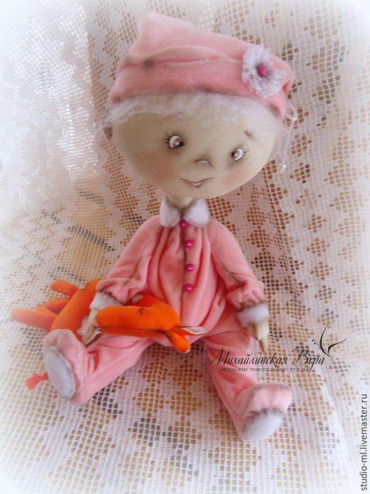Коллекционные куклы ручной работы. Ярмарка Мастеров - ручная работа. Купить Мама, давай поиграем.... Handmade. Коралловый, интерьерная игрушка