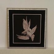 """Картины и панно ручной работы. Ярмарка Мастеров - ручная работа """"Моя голубка"""". Handmade."""