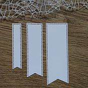 Материалы для творчества handmade. Livemaster - original item !Cutting scrapbooking Tags are perforated, set of 3 tags. Handmade.