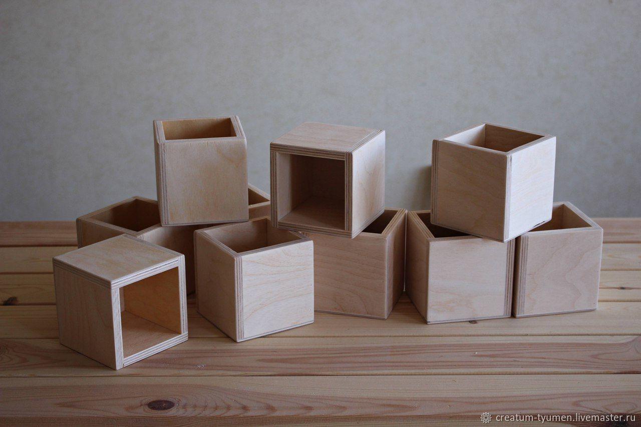 Коробочка из фанеры 10х10х10, Органайзеры, Тюмень,  Фото №1