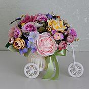 Цветы и флористика handmade. Livemaster - original item Flower arrangement Bike with flowers.. Handmade.