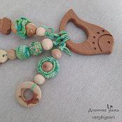 Куклы и игрушки handmade. Livemaster - original item Beech Rodent Bird with pendants. Handmade.