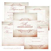 Дизайн и реклама ручной работы. Ярмарка Мастеров - ручная работа Коллекция страничек для Свадебной книги пожеланий (бежево-коричневая). Handmade.