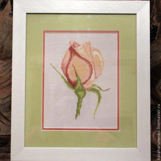 Картины цветов ручной работы. Ярмарка Мастеров - ручная работа. Купить Предсказательница счастья. Handmade. Вышивка, Вышивка крестом, роза