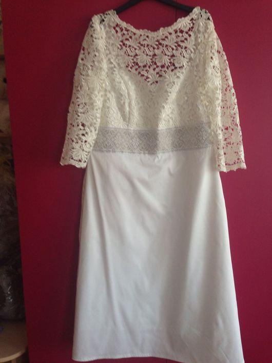 Платья ручной работы. Ярмарка Мастеров - ручная работа. Купить Вечернее платье ажур + вышитая бисером вставка. Handmade.