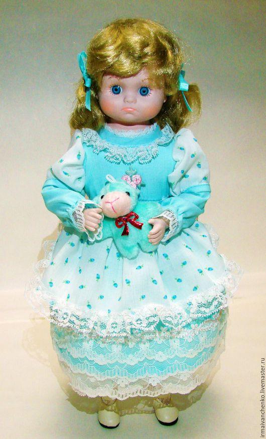 Коллекционные куклы ручной работы. Ярмарка Мастеров - ручная работа. Купить Игровая куколка Бредли ( имитация фарфора). Handmade.
