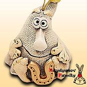 Сувениры и подарки handmade. Livemaster - original item Brownie charm Kuzema, ceramic bell. Handmade.