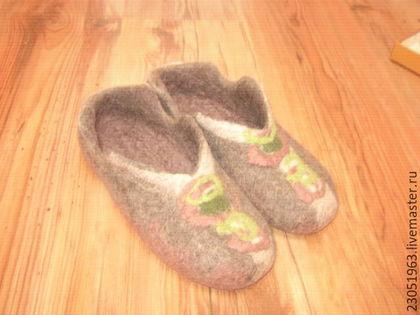 Обувь ручной работы. Ярмарка Мастеров - ручная работа. Купить Домашние тапочки. Handmade. Коричневый, дом, валяные тапочки