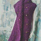 Одежда ручной работы. Ярмарка Мастеров - ручная работа Purple, вязаный жилет. Handmade.