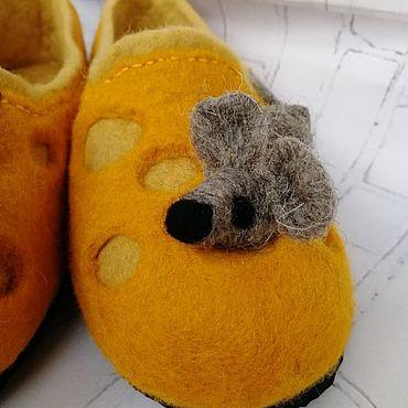 Обувь ручной работы. Ярмарка Мастеров - ручная работа Тапочки: Мышки. Handmade.
