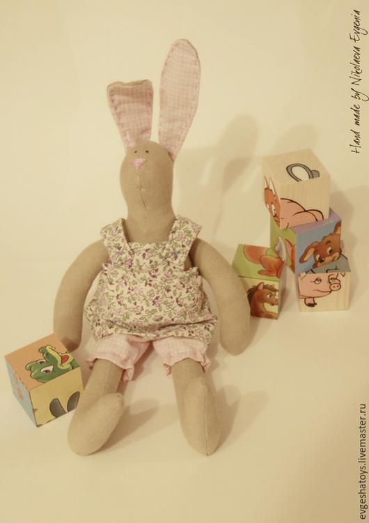 Куклы Тильды ручной работы. Ярмарка Мастеров - ручная работа. Купить Зайка Сеня. Handmade. Игрушка ручной работы