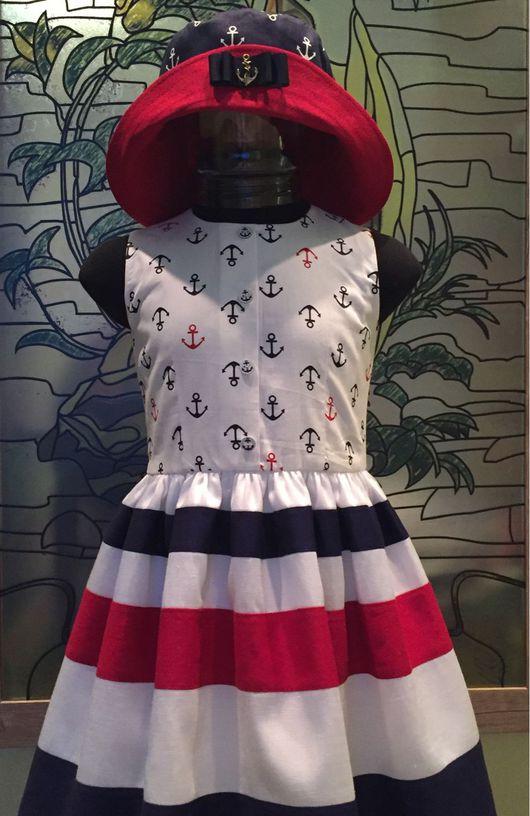 """Одежда для девочек, ручной работы. Ярмарка Мастеров - ручная работа. Купить Платье """"Морской бриз"""". Handmade. Платье, хлопок 100%"""