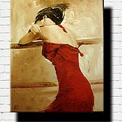 Картины и панно ручной работы. Ярмарка Мастеров - ручная работа Ах, как кружится голова!...Масло, холст на подрамнике.. Handmade.