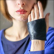 Аксессуары handmade. Livemaster - original item Autolady Black leather mitts Car gloves gift. Handmade.