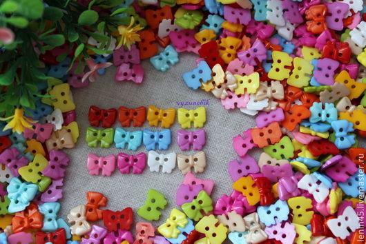 Шитье ручной работы. Ярмарка Мастеров - ручная работа. Купить Пуговицы бантики 12 цветов. Handmade. Пуговицы, пуговицы для декора
