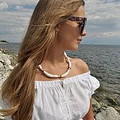 Украшения handmade. Livemaster - original item necklace made of biscuit porcelain