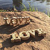 Свадебный салон ручной работы. Ярмарка Мастеров - ручная работа Слово love из дерева. Handmade.