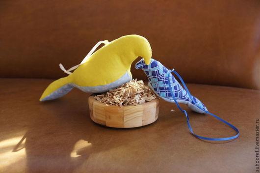 Браслеты ручной работы. Ярмарка Мастеров - ручная работа. Купить Ароматические  Птички  саше с можжевеловым ароматом. Handmade. Голубой, лоскутки
