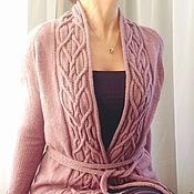 Одежда ручной работы. Ярмарка Мастеров - ручная работа Кардиган с аранами. Handmade.