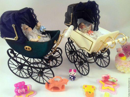 Шикарная коляска с крошечной куклой!