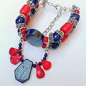 Украшения handmade. Livemaster - original item Set ethnic bracelet, earrings made of natural stones Morocco.. Handmade.