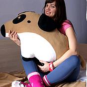 Для дома и интерьера handmade. Livemaster - original item Soft dog pillow and cozy beige blanket Sonia. Handmade.