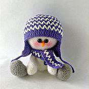 Подарки к праздникам ручной работы. Ярмарка Мастеров - ручная работа снеговичок Яшка. Handmade.