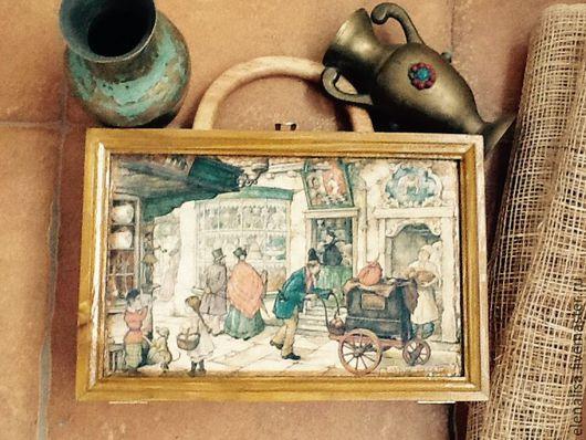"""Шкатулки ручной работы. Ярмарка Мастеров - ручная работа. Купить Чемоданчик"""" Городок"""". Handmade. Шкатулка, подарок, стильный подарок"""
