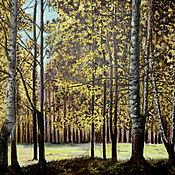 Картины и панно ручной работы. Ярмарка Мастеров - ручная работа Картина маслом на холсте Солнечный Лес. Handmade.